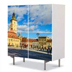 Comoda cu 4 Usi Art Work Urban Orase Centrul Clujului, 84 x 84 cm