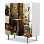 Comoda cu 4 Usi Art Work Urban Orase Utah Canada, 84 x 84 cm