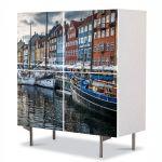 Comoda cu 4 Usi Art Work Urban Orase Copenhaga Danemarca, 84 x 84 cm
