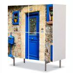 Comoda cu 4 Usi Art Work Urban Orase In Franta, 84 x 84 cm
