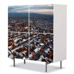 Comoda cu 4 Usi Art Work Urban Orase Oras in Armenia, 84 x 84 cm