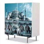 Comoda cu 4 Usi Art Work Urban Orase Moscheea Hagia Sophia Istanbul Turcia, 84 x 84 cm