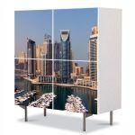 Comoda cu 4 Usi Art Work Urban Orase Super structuri urbane, 84 x 84 cm