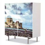 Comoda cu 4 Usi Art Work Urban Orase Insula Coronado, 84 x 84 cm