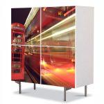 Comoda cu 4 Usi Art Work Urban Orase Cabina telefonica in Londra, 84 x 84 cm