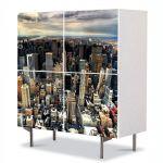Comoda cu 4 Usi Art Work Urban Orase Manhattan New York, 84 x 84 cm