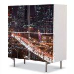 Comoda cu 4 Usi Art Work Urban Orase Beijing China, 84 x 84 cm