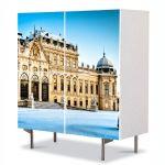Comoda cu 4 Usi Art Work Urban Orase Palatul Belvedere Viena Austria, 84 x 84 cm