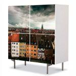 Comoda cu 4 Usi Art Work Urban Orase Nuremberg Germania, 84 x 84 cm