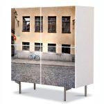 Comoda cu 4 Usi Art Work Urban Orase Pavaj stradal, 84 x 84 cm