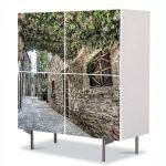 Comoda cu 4 Usi Art Work Urban Orase Spania, 84 x 84 cm