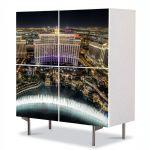 Comoda cu 4 Usi Art Work Urban Orase Fantani la Bellagio Las Vegas, 84 x 84 cm