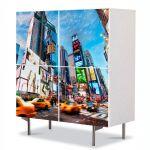Comoda cu 4 Usi Art Work Urban Orase Times Square New York, 84 x 84 cm