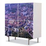 Comoda cu 4 Usi Art Work Urban Orase Timisoara de sus, 84 x 84 cm