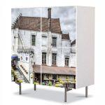 Comoda cu 4 Usi Art Work Urban Orase Casa alba in Belgia, 84 x 84 cm