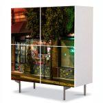 Comoda cu 4 Usi Art Work Urban Orase Restaurant in San Diego, 84 x 84 cm