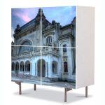 Comoda cu 4 Usi Art Work Urban Orase Cazinoul din Constanta la Rasarit, 84 x 84 cm