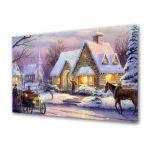 Tablou Canvas Iarna Piesaj de iarna