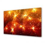 Tablou Canvas Iarna Beculete de Craciun