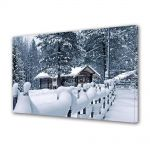 Tablou Canvas Iarna Casa la munte