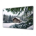 Tablou Canvas Iarna Cabana de lemn
