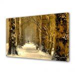 Tablou Canvas Iarna Padure sub zapada