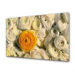 Tablou VarioView MoonLight Fosforescent Luminos in intuneric Flori Floare portocalie printre flori albe