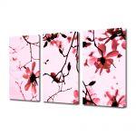 Set Tablouri Multicanvas 3 Piese Flori Crengute de magnolie