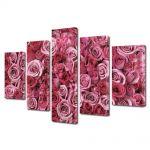 Set Tablouri Multicanvas 5 Piese Flori Spirale de iubire