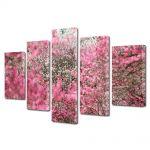 Set Tablouri Multicanvas 5 Piese Flori Ninge cu petale