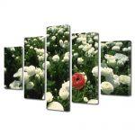 Set Tablouri Multicanvas 5 Piese Flori Unic