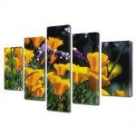 Set Tablouri Multicanvas 5 Piese Flori Flori blande