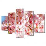 Set Tablouri Multicanvas 5 Piese Flori Flori zambind la soare