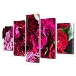 Set Tablouri Multicanvas 5 Piese Flori Buchet de flori