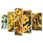 Set Tablouri Multicanvas 5 Piese Flori Frumusete