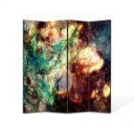Paravan de Camera ArtDeco din 4 Panouri Abstract Decorativ Spatiu 140 x 180 cm