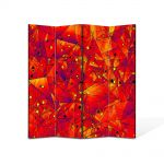 Paravan de Camera ArtDeco din 4 Panouri Abstract Decorativ Aproape de soare 140 x 150 cm