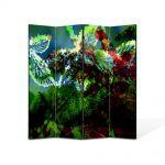 Paravan de Camera ArtDeco din 4 Panouri Abstract Decorativ Scenariu de culori 140 x 150 cm