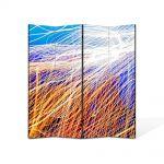 Paravan de Camera ArtDeco din 4 Panouri Abstract Decorativ Plasa de lumina 140 x 180 cm