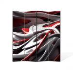 Paravan de Camera ArtDeco din 4 Panouri Abstract Decorativ De plastic 140 x 150 cm