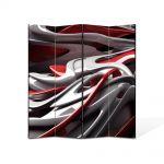 Paravan de Camera ArtDeco din 4 Panouri Abstract Decorativ Plastic 140 x 180 cm