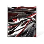 Paravan de Camera ArtDeco din 4 Panouri Abstract Decorativ Plastic topit 140 x 180 cm