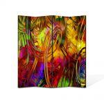 Paravan de Camera ArtDeco din 4 Panouri Abstract Decorativ Colorat 140 x 180 cm