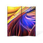 Paravan de Camera ArtDeco din 4 Panouri Abstract Decorativ Forme abstracte 140 x 150 cm