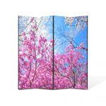 Paravan de Camera ArtDeco din 4 Panouri Peisaj De la roz la albastru 140 x 180 cm