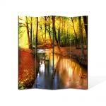 Paravan de Camera ArtDeco din 4 Panouri Peisaj Parau 105 x 150 cm