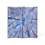 Paravan de Camera ArtDeco din 4 Panouri Peisaj In sus iarna 140 x 180 cm