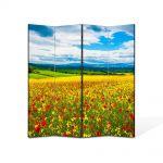 Paravan de Camera ArtDeco din 4 Panouri Peisaj De la pamant la cer 105 x 150 cm