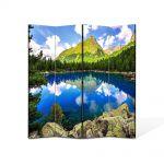 Paravan de Camera ArtDeco din 4 Panouri Peisaj montan 140 x 180 cm
