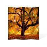Paravan de Camera ArtDeco din 4 Panouri Peisaj Copac vesnic 140 x 180 cm